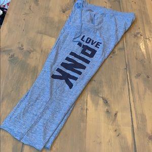 Pink Victoria's secret boyfriend sweatpants size S